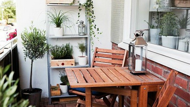 Balcony Design Folding Table Kleiner Balkon Einrichten Styling